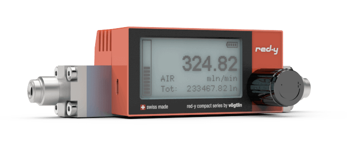 Battery Powered Digital Mass Flow Meters for Gases red-y compact series with Micro-USB Interface